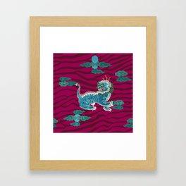 FOO BEASTIE ON MAGENTA Framed Art Print