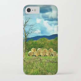 Stacked Hay Bales iPhone Case