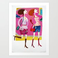 shopping Art Prints featuring shopping by Giorgia Grippo Belfi