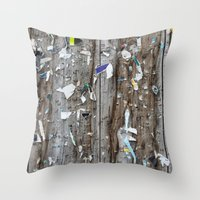 movie posters Throw Pillows featuring Posters by jmdphoto