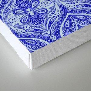 Simple Ogee Blue Canvas Print