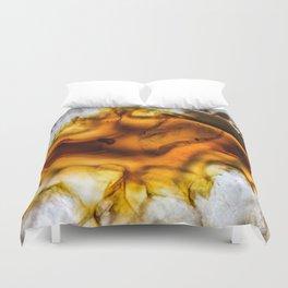 Honey Amber Agate frozen in time Duvet Cover