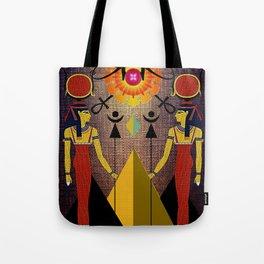 Hathor under the eyes of Ra -Egyptian Gods and Goddesses Tote Bag