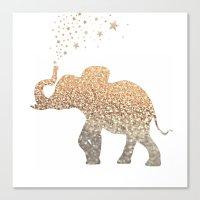 elephant Canvas Prints featuring ELEPHANT by Monika Strigel