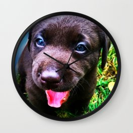 Puppy Play Wall Clock