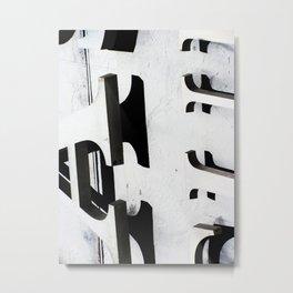 Black & White Letters #2 Metal Print
