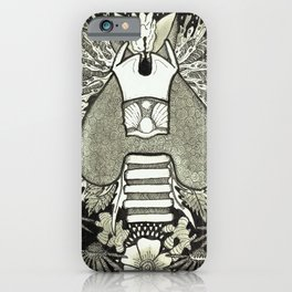 The Anatomical Thyroid- Organs and Herbs series iPhone Case