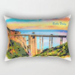 Bixby Bridge in California at sunset Rectangular Pillow