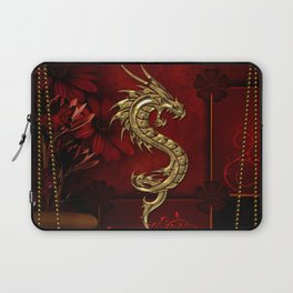 Wonderful golden chinese dragon Laptop Sleeve