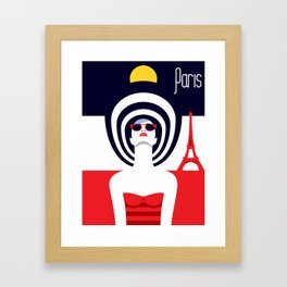 Stylish Journey - Paris Framed Art Print