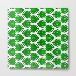 Monstera Leaf Tropical Vegetation Pattern Metal Print