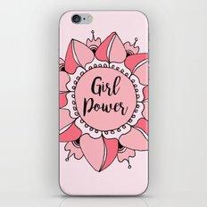 Girl Power Pink Mandala iPhone Skin