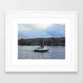 Boat on Lake Windermere Framed Art Print