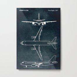 Airbus A320 - First flight 1987 Metal Print