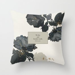 We live and breathe words. Will Herondale. Clockwork Prince. Throw Pillow