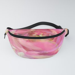 blooming pink rose texture abstract background Fanny Pack