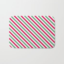 Holiday Stripes Bath Mat