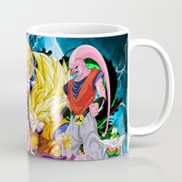 dbz Mugs featuring DBZ - Buu Saga by Mr. Stonebanks
