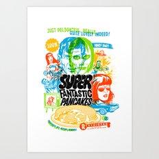 Super Fantastic Pancakes Art Print