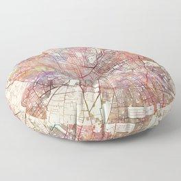 Santiago map Floor Pillow