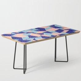 Colorful Aqua Geometric Pattern Coffee Table