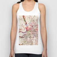 memphis Tank Tops featuring Memphis by MapMapMaps.Watercolors