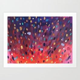 Colour explosion Art Print