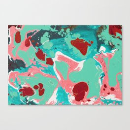 Abstract mint painting Canvas Print