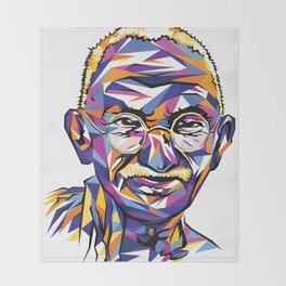 Legend of the fall – Ghandi Throw Blanket