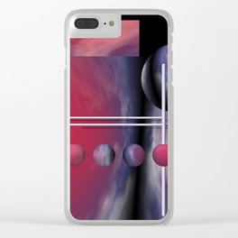 liking geometry -2- Clear iPhone Case