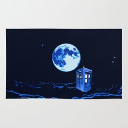 tardis  in the sky Rug