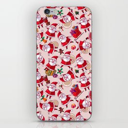Santa Gift Pattern iPhone Skin