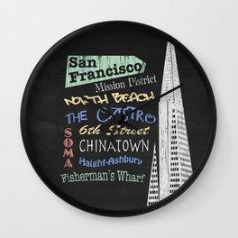 San Francisco Tourism Poster Wall Clock