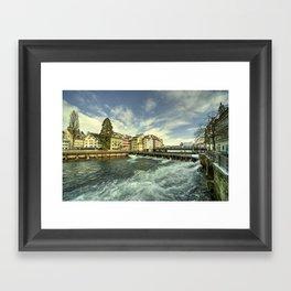 Weir of Lucerne Framed Art Print