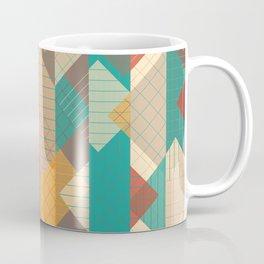 Geometric Geek Pattern - Squares, Stripes, Grids Coffee Mug