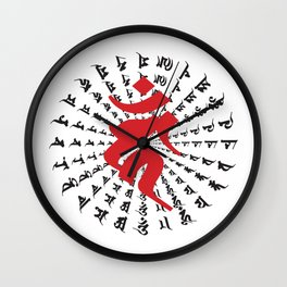 Fudo Myo-O Kahn Sanskrit character Wall Clock