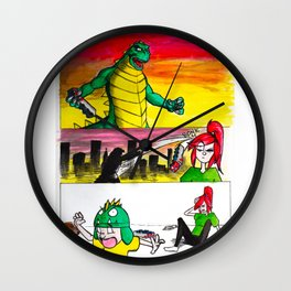 Wadezilla Wall Clock