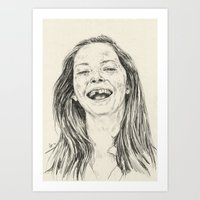tooth Art Prints featuring tooth by Daria Golab