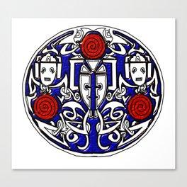 Celtic Cyberman brooch Canvas Print