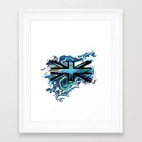 union jack Framed Art Prints featuring Union Jack by Boz Designs