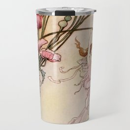 """Three Spirits Mad With Joy"" Art by Warwick Goble Travel Mug"