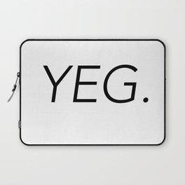YEG City Code - Edmonton Laptop Sleeve