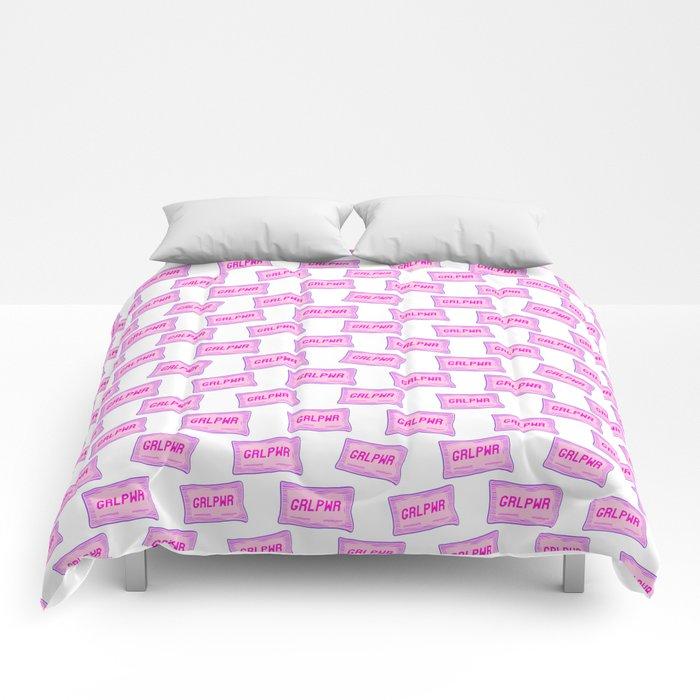 #GRLPWR Girl power White Comforters