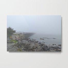 Fort Foster Fog Metal Print