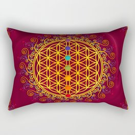 FLOWER OF LIFE, CHAKRAS, SPIRITUALITY, YOGA, ZEN, Rectangular Pillow