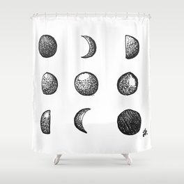 Phases of the Moon // Lunar Cycle Shower Curtain
