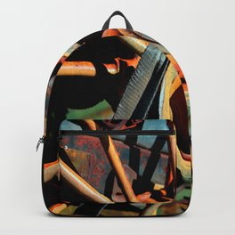 Color Tractor Wheel Backpack