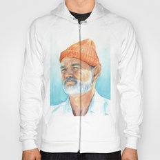 Bill Murray as Steve Zissou Portrait Art Hoody