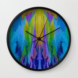Indigo and Azure Fantasy Wall Clock