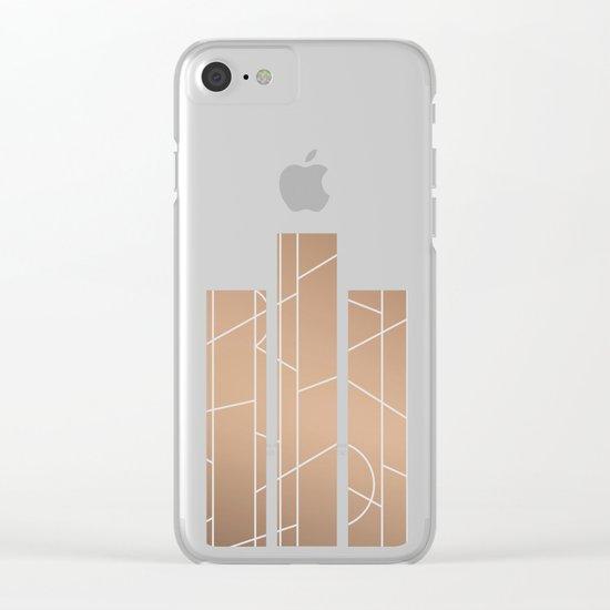 Patternbronze #3 Clear iPhone Case